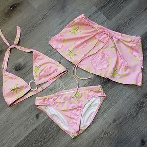 Tommy Hilfiger shell pink 3pc bikini set